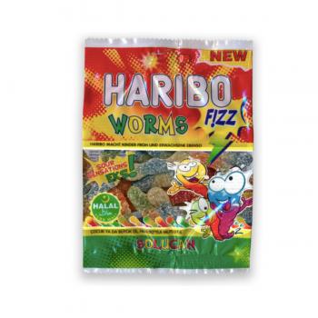 BONBON HARIBO WORM FIZZ 100G